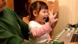 米妹RAP 日文50音(2歲11個月)