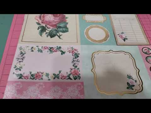 Recollections Rose Cottage Hot Buy paper pad flip through
