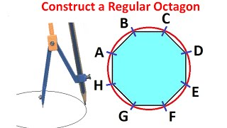 Constructing a Regular Octagon within given Circle by Using Ruler and Compass