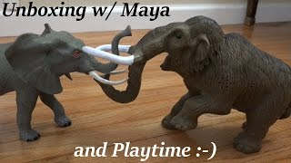Dinosaur and Prehistoric Animal Toys: Wooly Mammoth and Dinosaur Toys Unboxing thumbnail