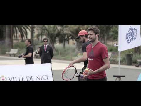 Nice 2015 Gilles Simon & Ernests Gulbis Downtown Visit