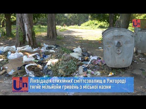 Ліквідація стихійних сміттєзвалищ в Ужгороді тягне мільйони гривень з міської казни