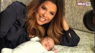 Eva Longoria presenta la carita de su hijo Santiago Enrique por primera vez | ¡HOLA! TV