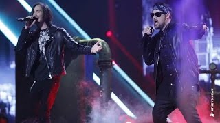 Joel Madden and Frank Lakoudis sing Radioactive | The Voice Australia 2014