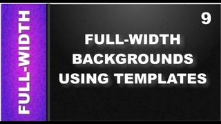 Web Design Tutorials for Xara Web Designer 9 Premium: Full-Width Backgrounds Templates Lesson 113