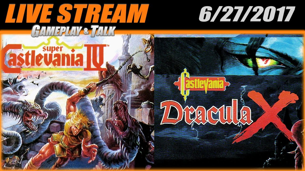 Gameplay And Talk Live Stream Super Castlevania Iv Dracula X