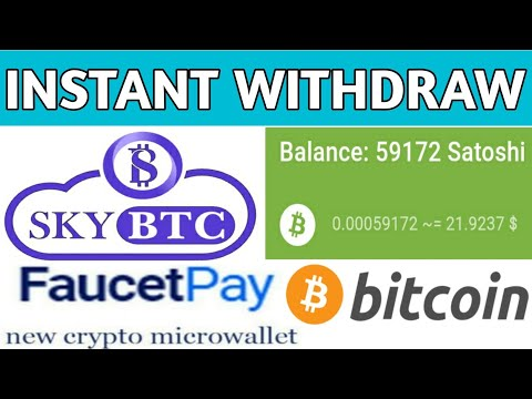 Skybtc 0.00063 Free Bitcoin Satoshi Instant Withdraw Proof||Bitcoin Faucet Proof