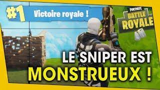 LE SNIPER EST MONSTRUEUX ! 2 PARTIES, 2 TOP1 ! FORTNITE BATTLE ROYALE