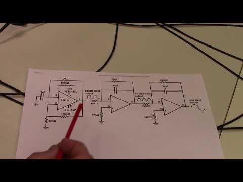 #61: Op amp oscillators, integrators, and waveforms