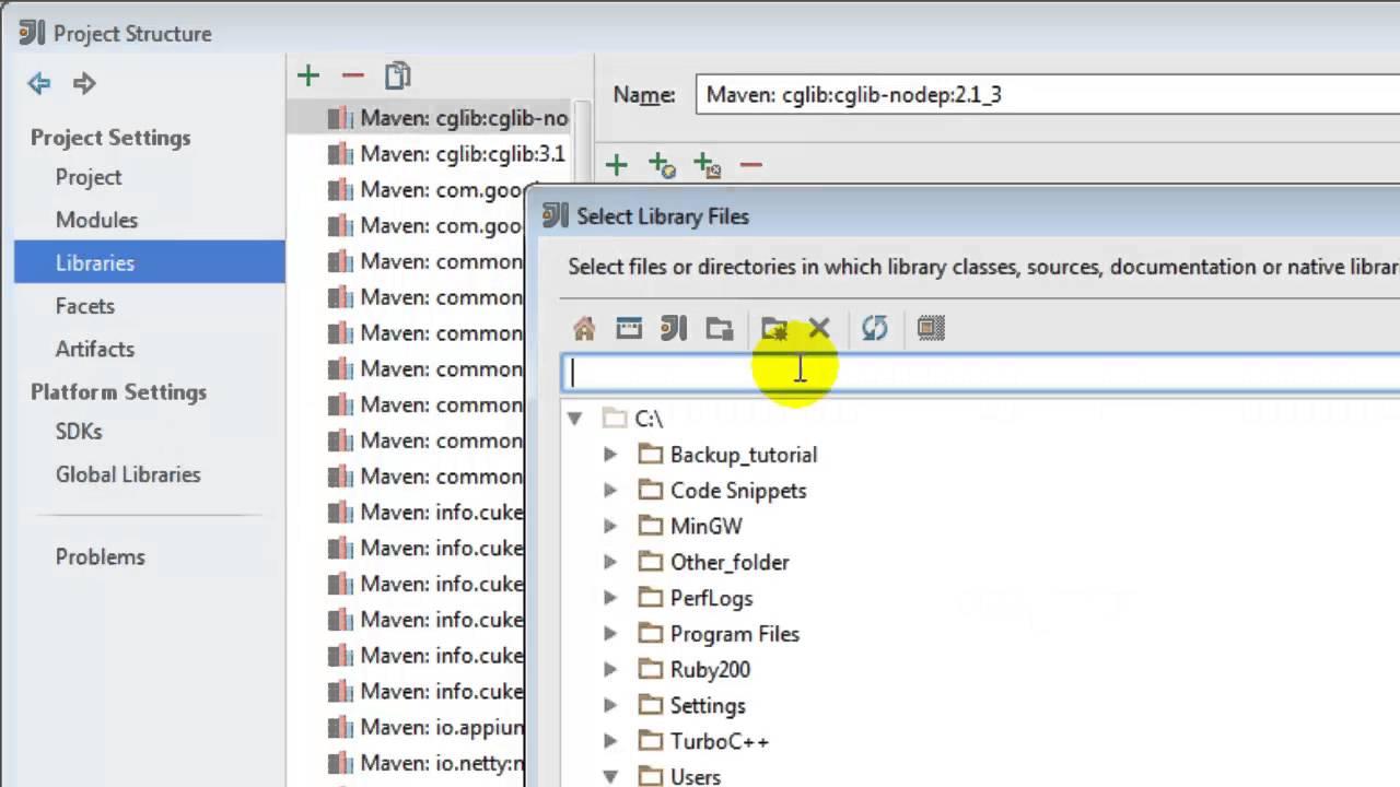 How to add library in intellij IDEA