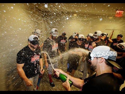 Red Sox celebrate winning AL East at Yankee Stadium