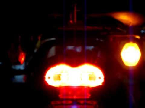 Suzuki Bandit modified brake and turn signals