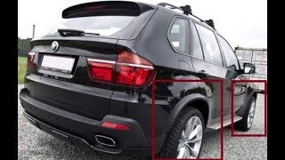 КАК СНЯТЬ РАСШИРИТЕЛИ АРОК КОЛЕС BMW X5 E70