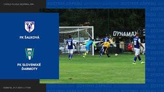 Zostrih zápasu FK Šalková - FK Slovenské Ďarmoty, 31.7.2021