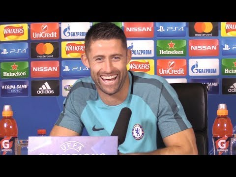 Gary Cahill Full Pre-Match Press Conference - Chelsea v Qarabag - Champions League