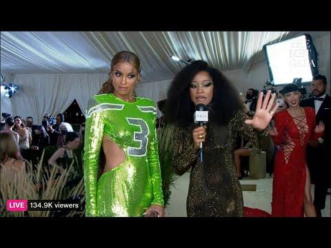 Ciara's Interview w/ Keke Palmer | 2021 MET Gala