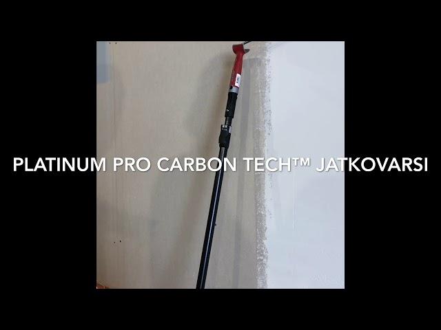 Testissä Anza Platinum Pro Carbon Tech jatkovarsi, alumiinipiikki ja kaksikätinen levityslasta