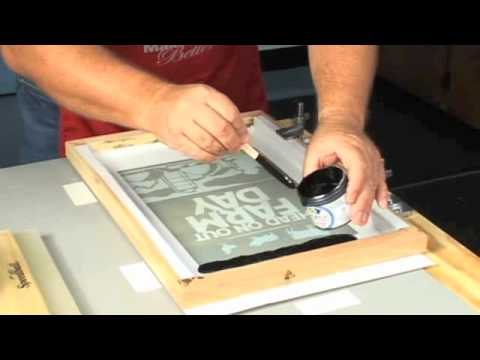 Multi-Color Screen Printing - YouTube