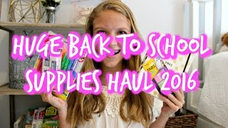 HUGE Back To School Supplies Haul 2016!! Target, Staples, and more!!