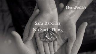 Sara Bareilles - No Such Thing (Lyrics)