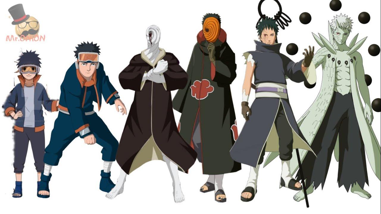 naruto characters uchiha obito s evolution youtube