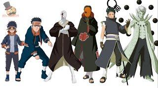 Naruto characters: Uchiha Obito's Evolution