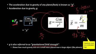 C.M.5 Universal Gravitational Force
