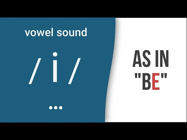Vowel Sound / i / as in
