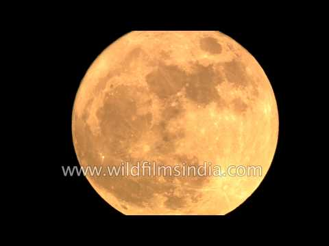Super moon seen from New Delhi today!