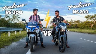 Pulsar NS200 vs Pulsar RS200 | 1st, 2nd, and 3rd Gear Top Speed | TmixV.