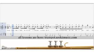 Jason Derulo - Cheyenne - How To Play Trumpet - Sheet Music Fingering Sample Key
