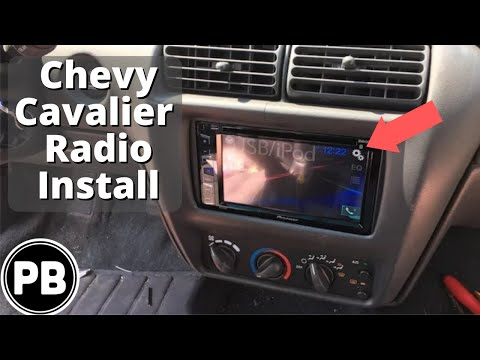 1995 - 2005 Chevy Cavalier Pioneer Bluetooth Radio Install AVH