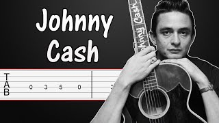 Ring of fire - johnny cash guitar tabs, tutorial, lesson (fingerstyle)