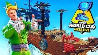 Playing LACHLAN's Fortnite DEATHRUN! (Creative World Cup Map)