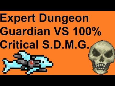 Terraria - Expert Dungeon Guardian VS S.D.M.G. (100% Critical)