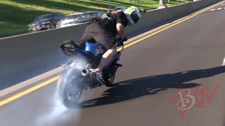 Motorcycle DRIFTING On Highway Bike Drift Gymkhana ROC 2014 Ride Of The Century C Bear Moto Drifts