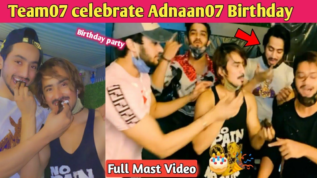 Adnaan07 Birthday party video | Team07 celebration Adnaan07 Birthday | Mr Faisu ,Hasnain party video