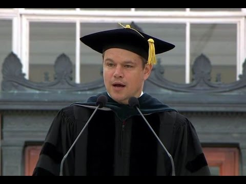 Full Speech Matt Damon in MIT Jun 3, 2016. Donald Trump. Bankers. MIT Commenceme