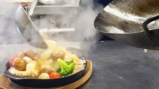 中華女子なっちの賄い【海鮮おこげ】Crispy Rice with Seafood Starchy Sauce. 海鮮鍋巴