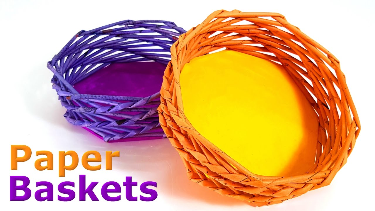 How To Make Flower Basket From Paper : How to make paper baskets
