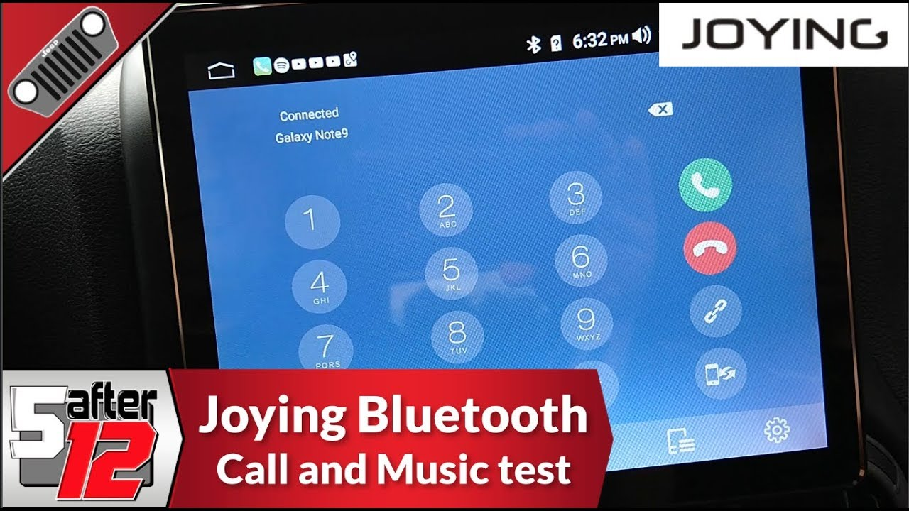 Joying double din - Bluetooth call and audio test - temperature check