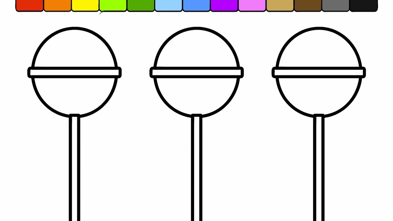 learn colors for kids and color this popsicle candy coloring page