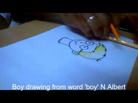 How To Draw Boy From Word Boy By Youtube
