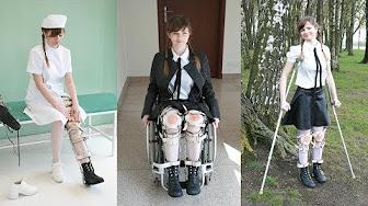 Polio leg brace ladies