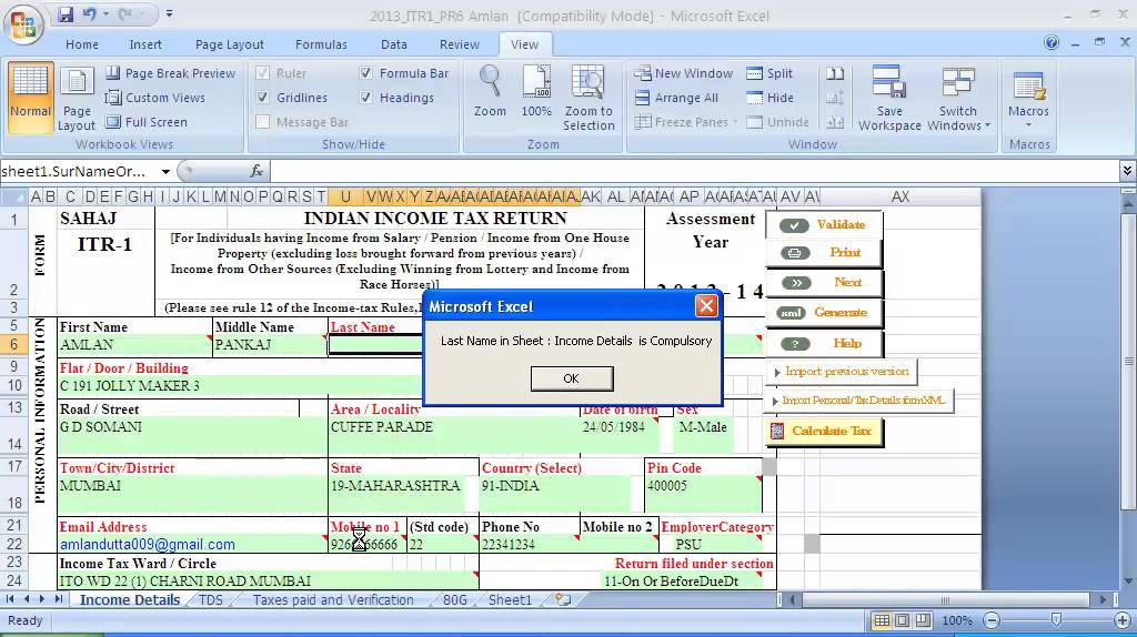 4 Tax Credit How To Fill Tds Sheet While Filing Online Return