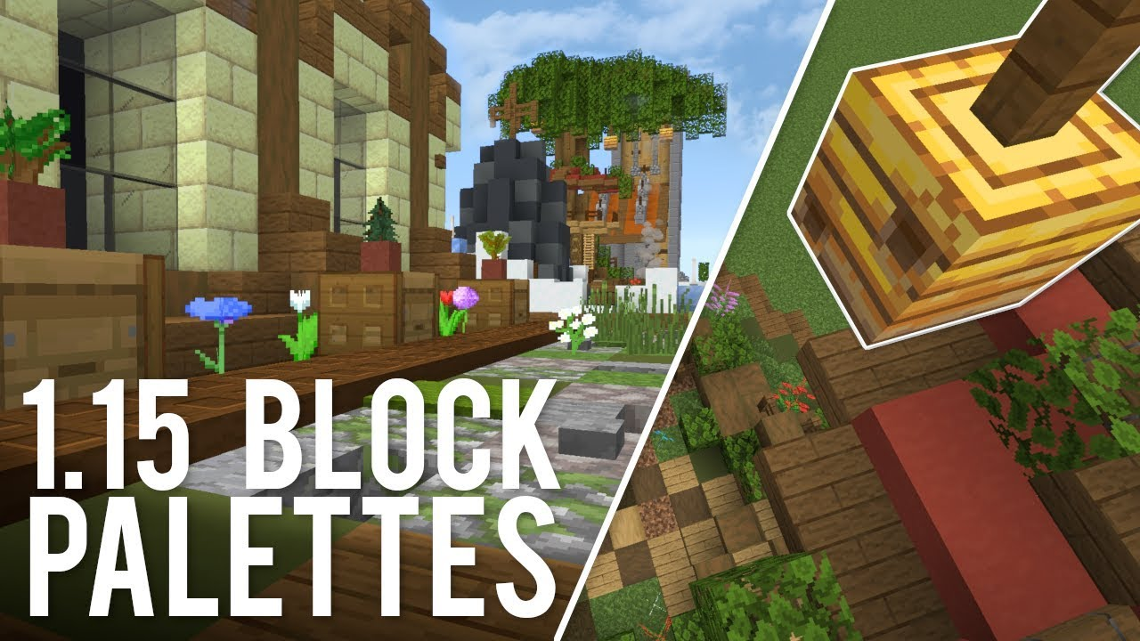 Minecraft Block Combinations Palettes For 1 16 Youtube