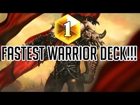 Fastest Warrior Deck!!! (Aggro Warrior Rise of Shadows)