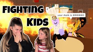 FIGHTING KIDS ON ROBLOX (with my sister)