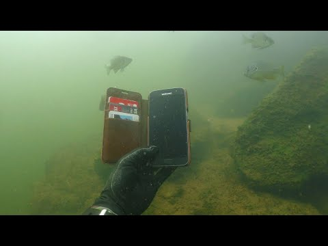 Found 10 iPhones, 2 GoPros, Gun and Knives Underwater in River