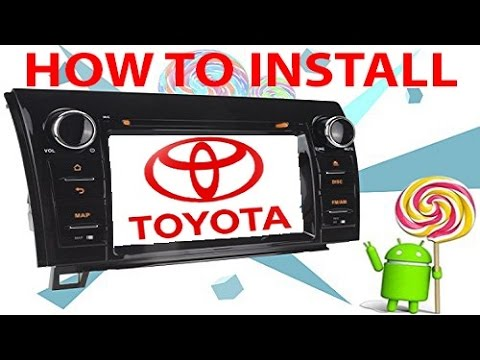 Volsmart Android 5.1 Car Stereo Radio For Toyota Tundra Installation 1/2